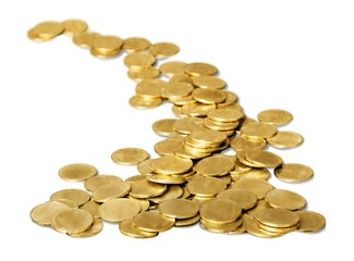 Gold. gold coins road or path