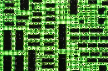 Green electronic circuit board as background