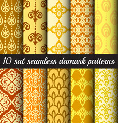 damask seamless patterns wallpapers