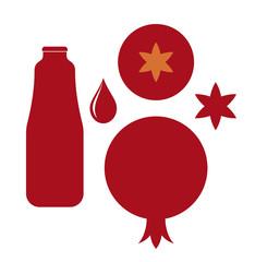 Pomegranate. Vector on white background