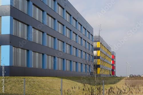 Leinwanddruck Bild Modern hospital building