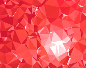 Modern, Red Polygon Texture Background