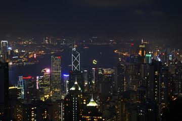 Victoria Peak in Hong Kong. China