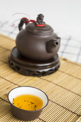 tea teapot cup Chinese pottery clay Oolong cha concept
