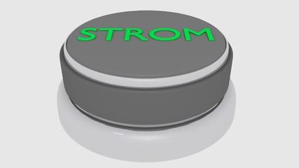 3d Button mit Strom Schriftzug