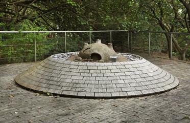 Ancient Kiln park and Hkia historical garden in Hong Kong. China