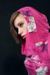 Woman in pink hood