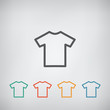 T-shirt flat blank icon symbol - 80157269