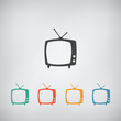 TV vector icon - 80158297