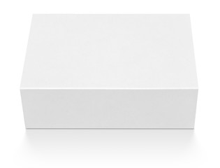 Blank cardboard box isolated on white with clipping path