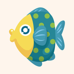 sea animal fish cartoon theme elements