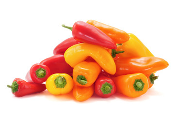 sweet peppers of different colors