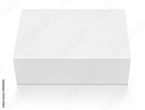 Blank cardboard box isolated on white with clipping path - 80158661
