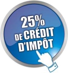 bouton 25% de crédit d'impôt