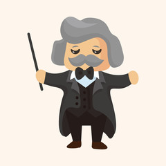 character musician conductor theme elements