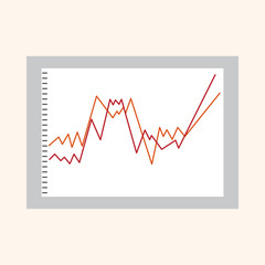 Financial charts theme elements