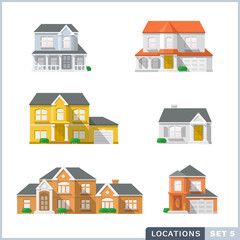 House icon set 1, Private residential architecture.