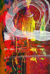 Abstract on Canvas cloth