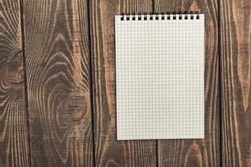 Blank. brown blank note book on grunge wood