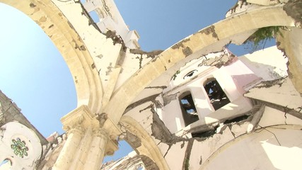 Haiti earthquake - collapsed church