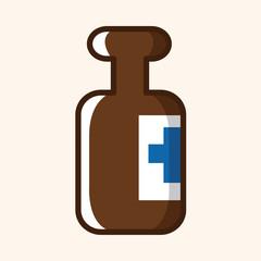 medical bottle theme elements