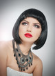 Hairstyle and Makeup - beautiful female art portrait