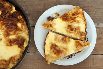 A delicious homemade mushroom pie
