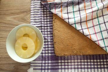 Preparing Pineapple cake