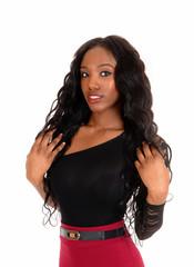 Portrait of black woman.