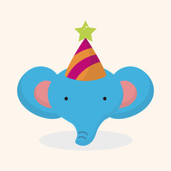 animal elephant cartoon theme elements