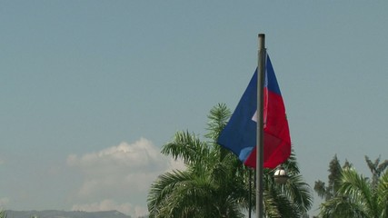 Haiti earthquake - Haiti flag