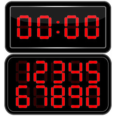 Digital Clock . Digital Uhr Nummer