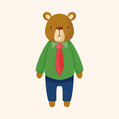 animal bear worker cartoon theme elements