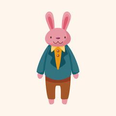 animal rabbit worker cartoon theme elements