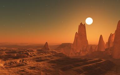 3D surreal space landscape