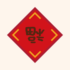 Chinese New Year theme elements, Chinese couplets with Chinese w