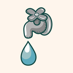 Environmental protection concept theme elements; Conserve water,