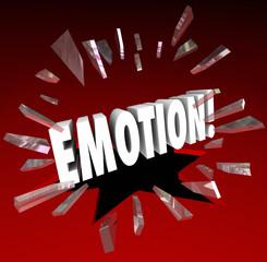 Emotion Word Breaking Glass Unleash Let Out Feelings