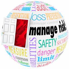 Manage Risk Reduce Danger Hazard Problems Open Door Lower Chance