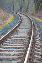 Railway track leading into the unknown