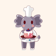 animal chef cartoon theme elements