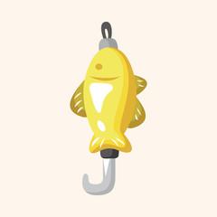 Fishing bait theme elements