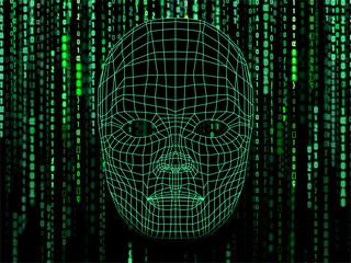 Binärcode mit Maske