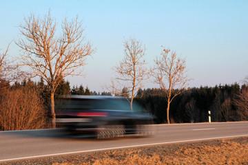 Zu schnell auf den Straßen unterwegs