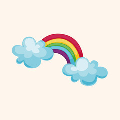 weather rainbow theme elements