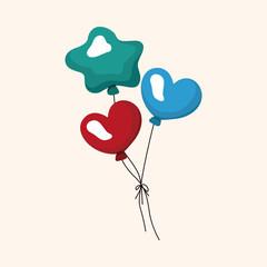 birthday balloon theme elements