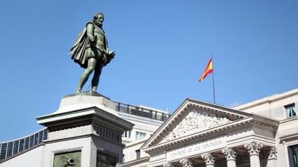 Monument near Spanish Congress of Deputies building