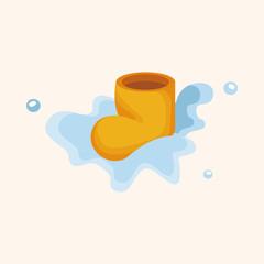 rainy boots theme elements