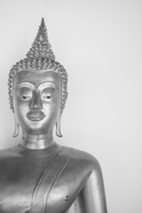 Image of buddha on black & white