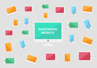 computer and device icons, responsive website icons